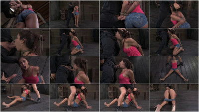 Hot Latino Jynx Maze suffers Rope Bondage is Deep Throated & Roughly Fucked Hogtied