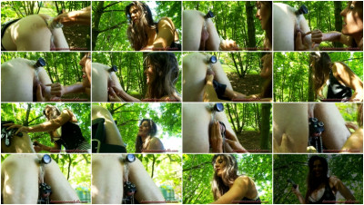 Anal Games With A Slave In The Forest