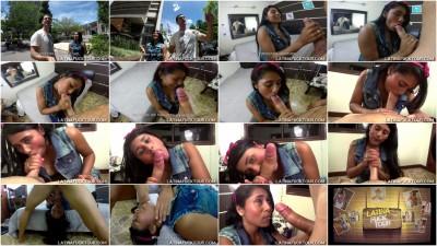 Sexy Latina petite Karina Jimenez tries Antonio's main dish