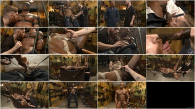 Gay BDSM Hung KinkMen PA Explores the Bondage Wall and Gets Edged