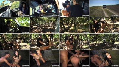 Jade Jantizen Accepts Slave Ttraining Session with Outdoor Rope Bondage & Rough Sex