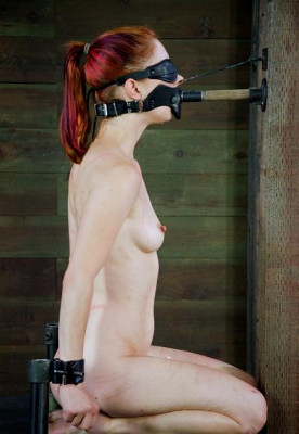 Girl gagged with a headgear