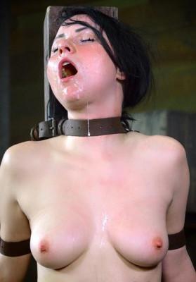 Pretty Veruca James utterly destroyed by brutal deep throat!
