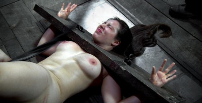 Charming slim body in torture