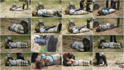 The Vigilante Turns His Attention Towards Rachel - Outdoor Leather Bondage - Part 3