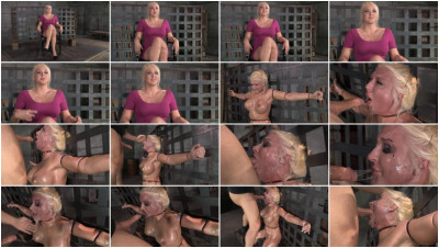 Big titted blonde Leya Falcon ziptied sybian messy deepthroat and throatboarding! (2014)