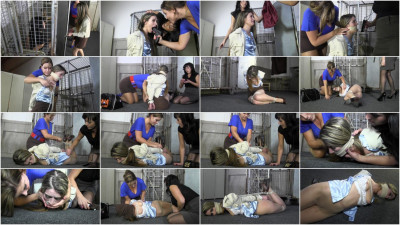 Hot slavegirl plus two sexy Mistress - bondage, domination, hogtie