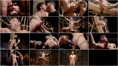 Ripped Stud Caught in Sebastian's Web and Edged Relentlessly (tiny, milk, caught, load)