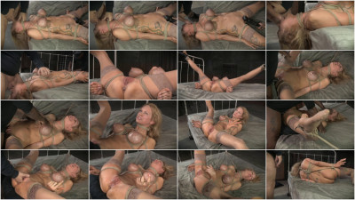 Busty blonde Rain DeGrey bound and brutally assfucked