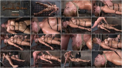 bdsm Holly Heart Strapped to Bed Frame in Vicious Bondage and Brutally Face Fucked
