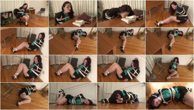 Bound and Gagged - Secretary Bondage in Heels - Caroline Pierce