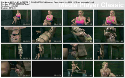 bdsm Courtney Taylor bound hard