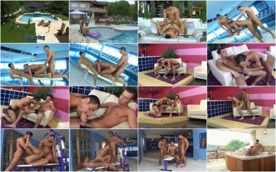 Poolside Party ; teen gay dummy photos.