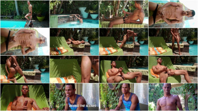 hot gay fucking download - (Straight Hunk Brandon Foster shoots cum out of his long black cock)
