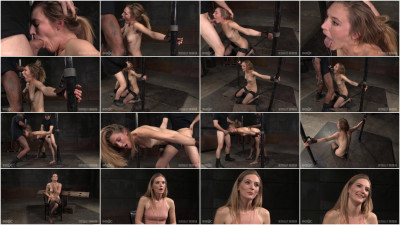 Toned all natural Mona Wales shackled onto sybian