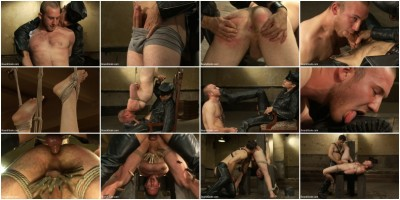 Kink: Bound Gods - Master Avery, Cody Allen - 18 year old slave boy endures the most intense ball stretching on BG.