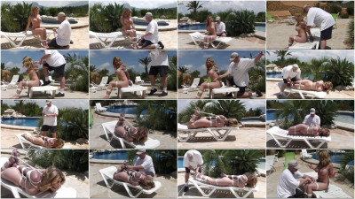 Hogtie challenge for very hot Blonde