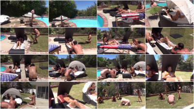 Femdom and Strapon Mean Girl Pool Party
