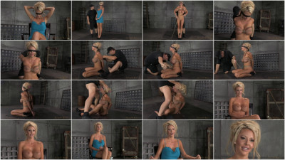 Big titted blonde Courtney Taylor bound blindfolded and facefucked, epic drooling deepthroating!