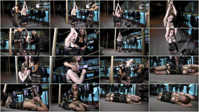 Super bondage, torture and domination - slavegirl and two Brunettes