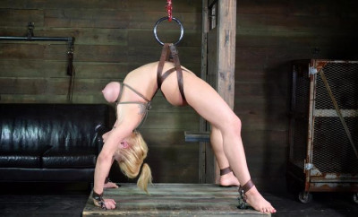 Big titted Darling in bdsm show