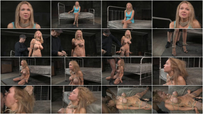Big breasted blonde Rain DeGrey tightly tied
