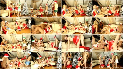 sotted Babes Enjoy Xmas Orgy (720)