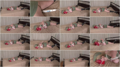 bdsm Bound and Gagged - Military Stress Test - Bed Bondage Orgasm for Lorelei