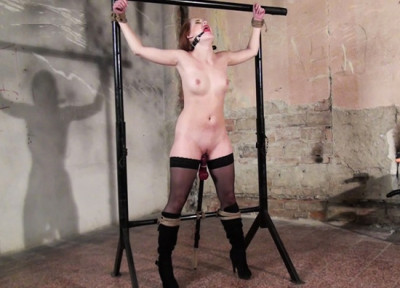 Denisa bound and ballgagged whipped and dildoed (2014)