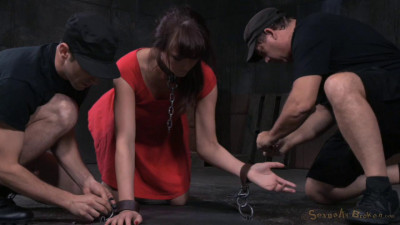 Brunette Bianca Breeze Bound Doggystyle Rough Three Way Sex Brutal Drooling (2015)