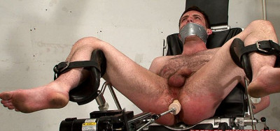 Tied and gagged, arsehole shaved and filled with water