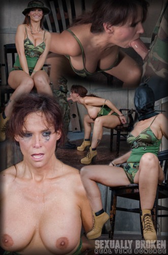 Hot military wife is bound and brutally face fucked! Halloween special live show, Part One