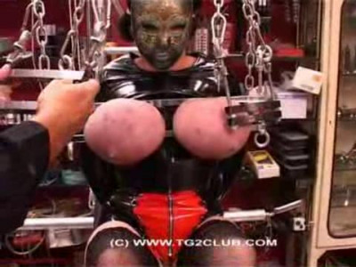 Mask Woman Big Breast Torture