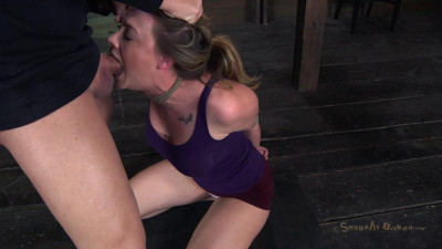 Chanel Preston manhandled, Brutally deep throated