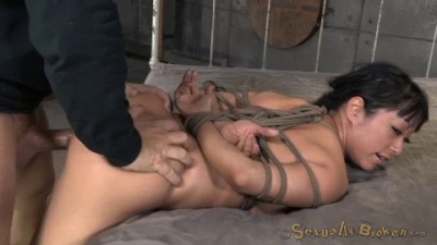 Big Titted Asain Is Bound Brutally Face Fucked Made To Squirt