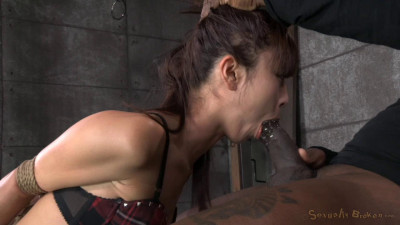 Little Asian slut Marica Hase roughly fucked by 10 inch BBC
