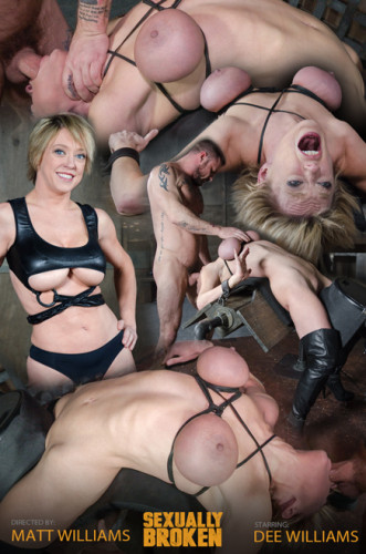 Dee Williams, our sexy resident Top, gets grabbed, severely bound, Brutally face fucked on a sybian!