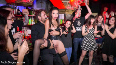 Underground Goth Club turns into a Wild Fuck Party!