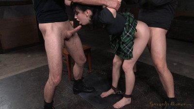 Aria Alexander blindfolded and roughly fucked with brutal drooling deepthoat!
