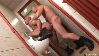 Spontaneous sex in the toilet