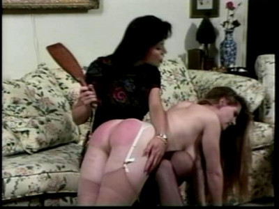 An over the knee spanking sets her straight on that score