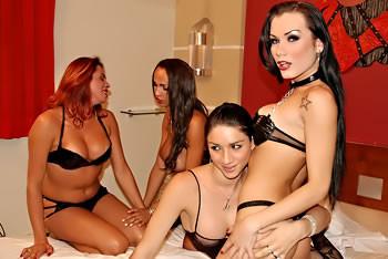 Kinky shemale Orgy