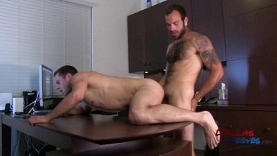 Dalton Pierce & Maxx Fitch - Bareback office fuck staring
