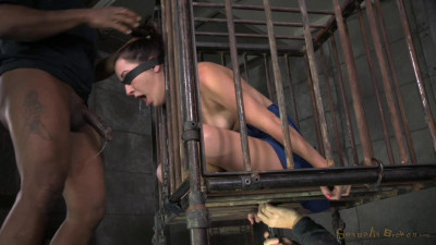 Girl Next Door Marley Blaze Caged In Strict Bondage