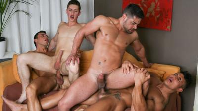 Hot Foursome Wagner, Diego, Radim Hajek & Lukas Pribyl (1080p)