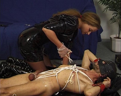 Torturing dirty cock