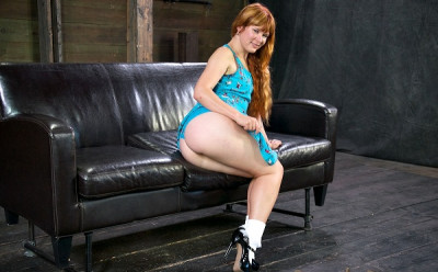 Natural Red Head Is Bound And Made To Worship Cock With Her Throat , HD 720p