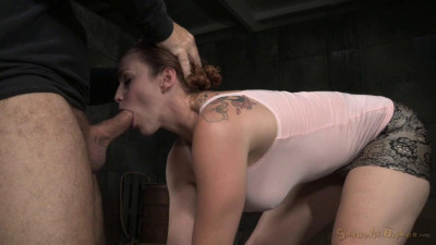 Big breasted Bella Rossi restrained in metal bondage with rough fucking