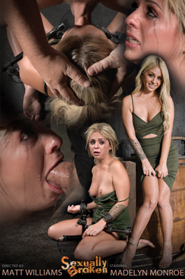 SB - Oct 07, 2015 - Sexy blonde Madelyn Monroe restrained on vibrator and facefucked wit