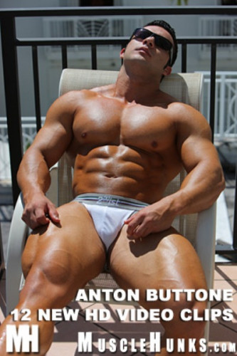 MuscleHunks - Anton Buttone - Hot Round Glutes